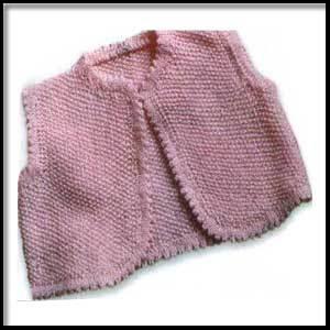 Детский розовый жилет