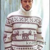 muzhskoj-pulover-s-olenyami