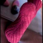 Носки, вязание по косой