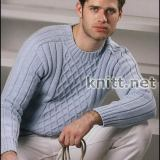 sinij-muzhskoj-pulover-s-uzorom-iz-rombov-v-klassicheskom-stile