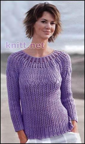 Круглая кокетка - вязание