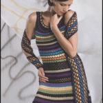 Ажурное яркое платье
