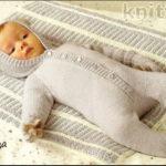 Комбинезон с ушками, варежки и одеяло (3 месяца)