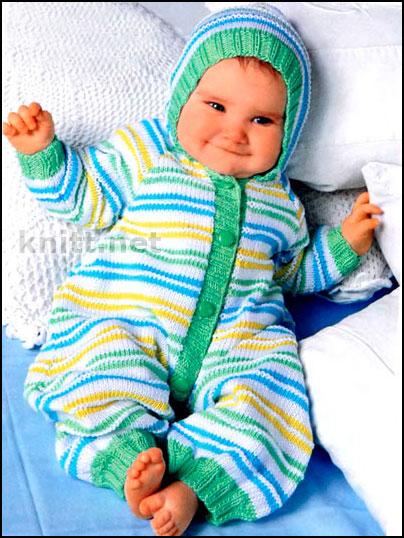 Теги вязание детский комбинезон