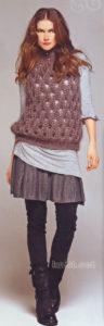 Коричневый пуловер от Helena Hammer