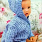 Пальто-кофта небесно голубого цвета