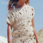Платье-туника бежевого цвета