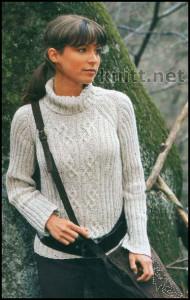 Пуловер реглан серого цвета