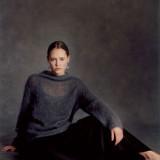 Тонкий пуловер из мохера Nissa