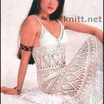 Ажурное платье с кружевом