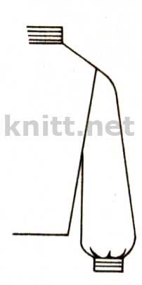 Манжеты, связанные вместе с рукавом, заложенным складочками