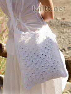 Белая прямая сумочка