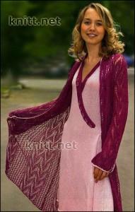 Платье, болеро и ажурное пальто