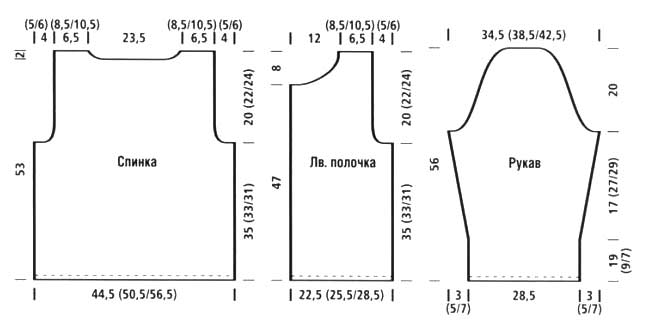 Выкройки и модели для вязания спицами
