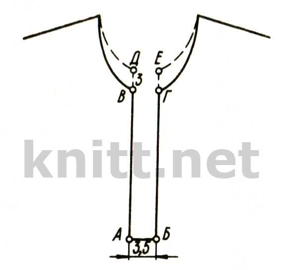 Планка, связанная вместе с окантовкой воротника
