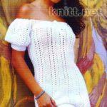 Платье с рукавами-фонариками крючком