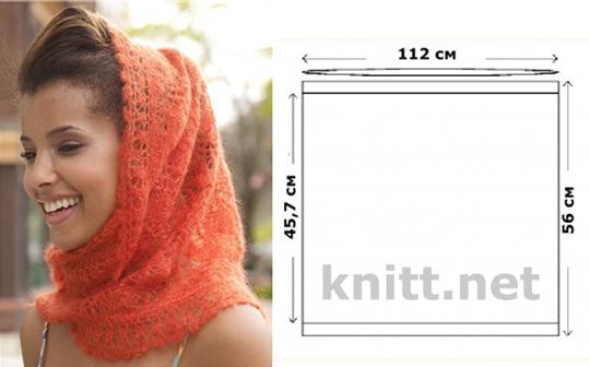 вязание, спицами, шаль, тонкое вязание, ажурное, Шаль Mantilla,легкое,