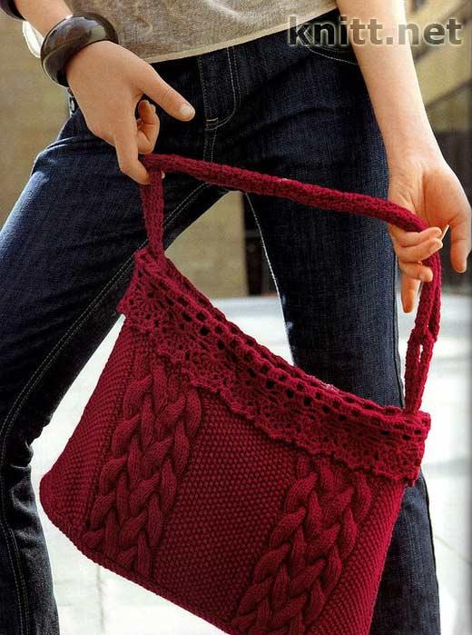 ...и вместительная сумочка винного цвета.  Эта сумка создана специально...