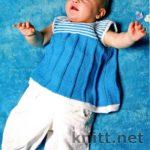 Бирюзовое платье-туника для малышки