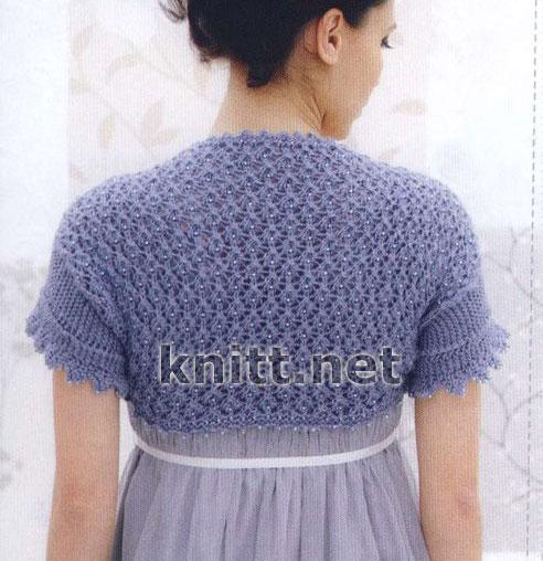 Описание: вязание болеро шраг спицами (25.
