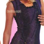 Фиолетовое платье крючком