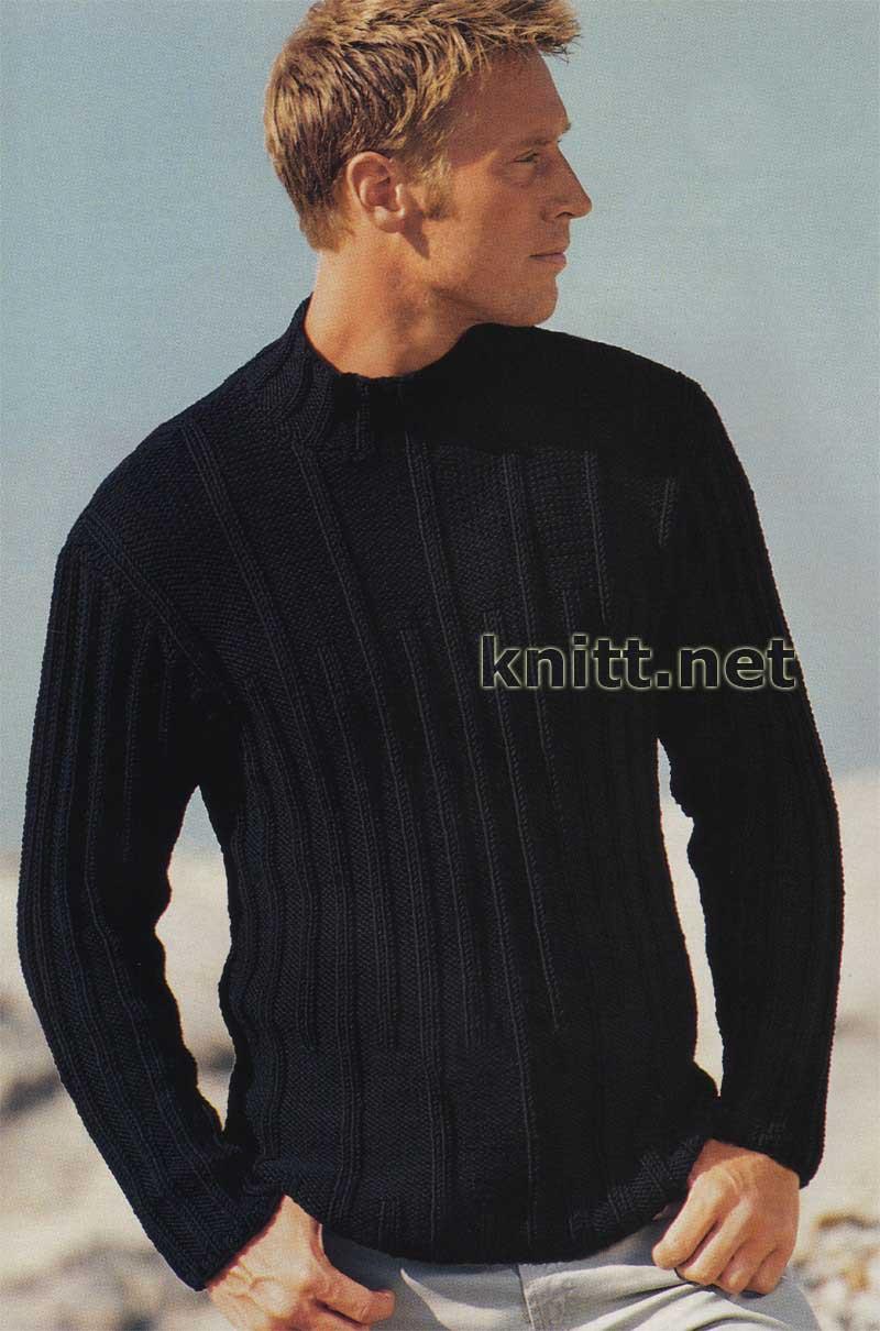 Связать мужской свитер спицы