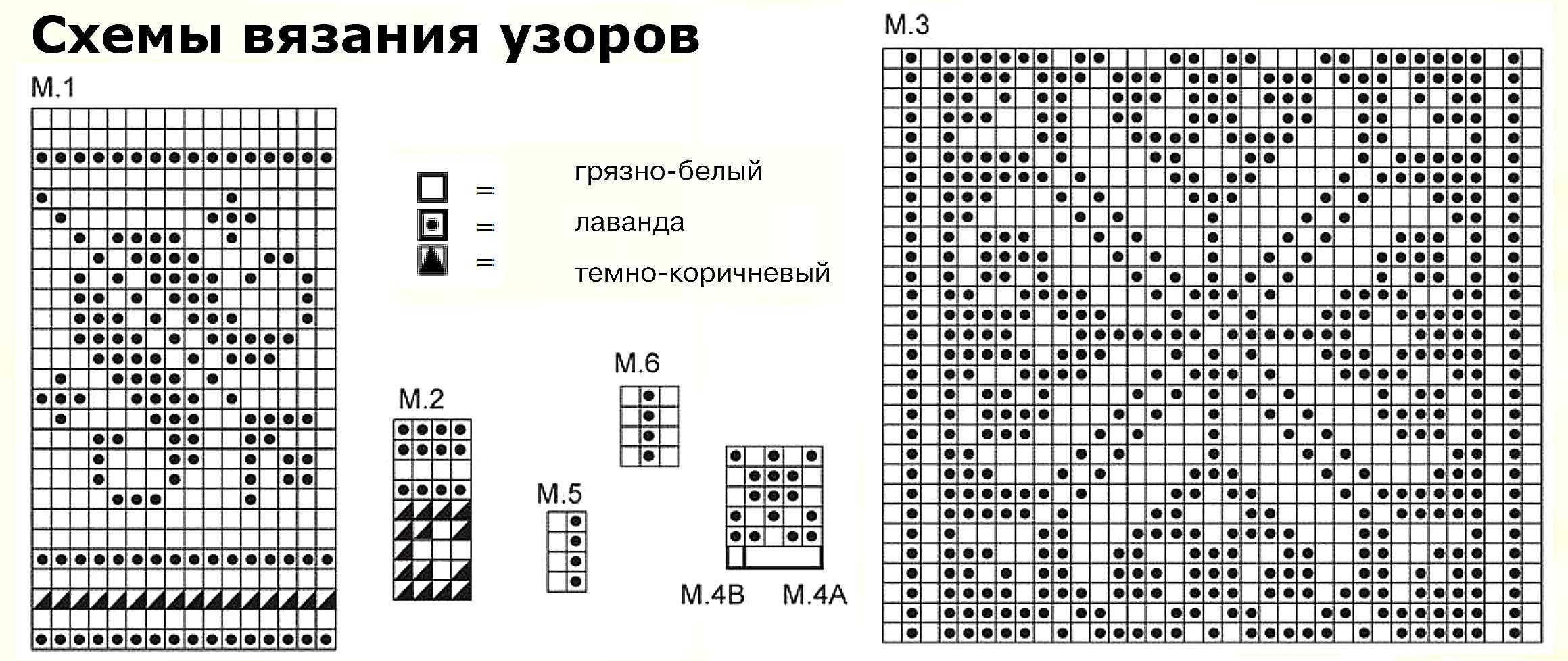 Схема вязания на спицах с картинками 405