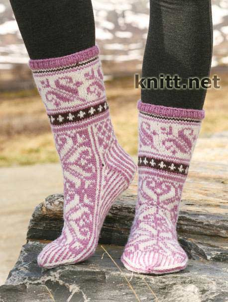 Носки с жаккардовым узором knitt net все о вязании