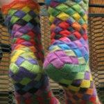 Плетеные носочки  5-ю спицами