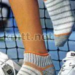 Полосатые короткие спортивные носочки