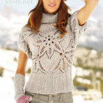 Пуловер с узором «Пряный цветок»