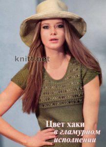 Вязанный удлиненный пуловер