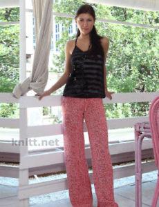 Женские вязанные крючком брюкиЖенские вязанные крючком брюки
