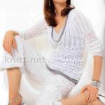 Белый пуловер «Playa»