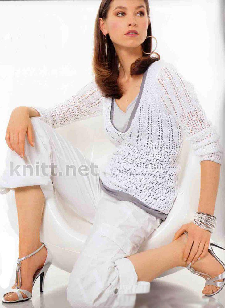 свитер из мохера спицами - Лучшие концепции стиля и моды.