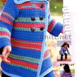 Детское пальто крючком