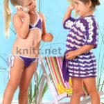 Купальник и туника для малышки