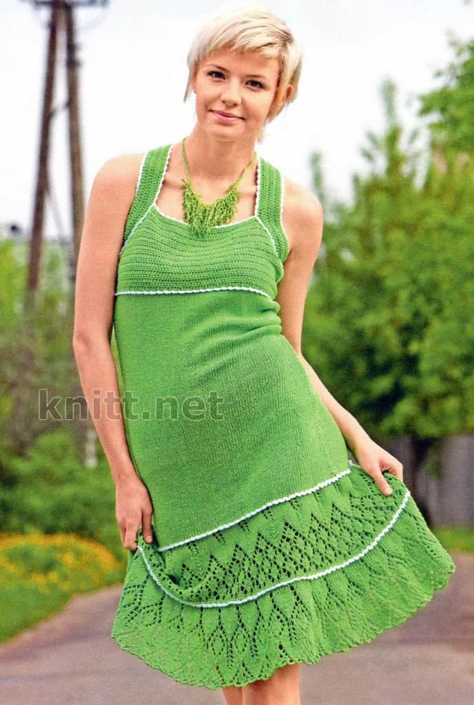 Вязание спицами летние платья и сарафаны 15
