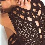 Мини платье крючком (белое и черное)