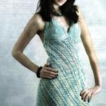 Платье из диагональных полос