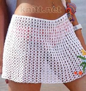 Пляжная юбка с аппликацией