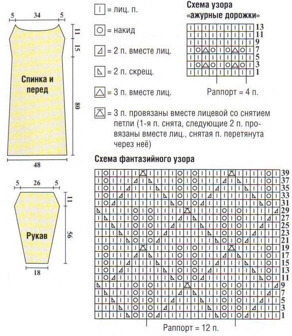 Скачать схему вязания реглан