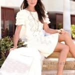 Белое платье в стиле Кармен