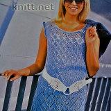 Голубое платье для лета