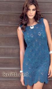 Классическое платье синего цвета