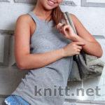 Короткая юбка с рюшами