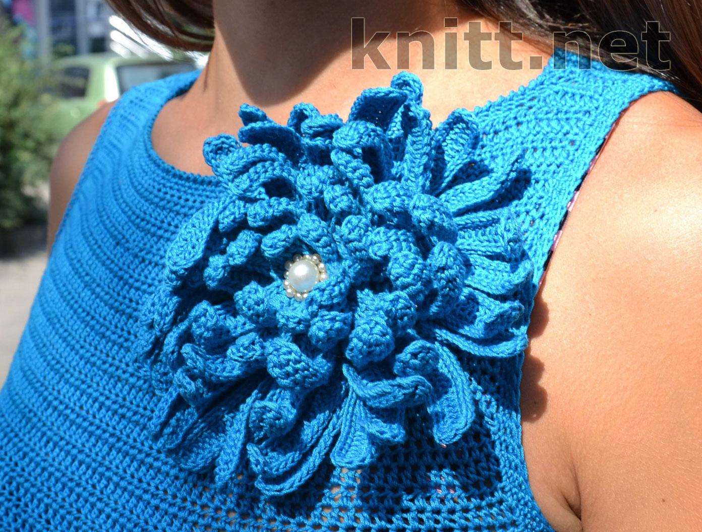 Вязание крючком шапки для девочки на лето