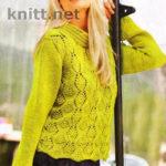 Пуловер салатового цвета