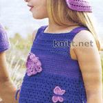 Туника и шляпка для девочки