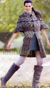 Пальто с рукавом летучая мышь